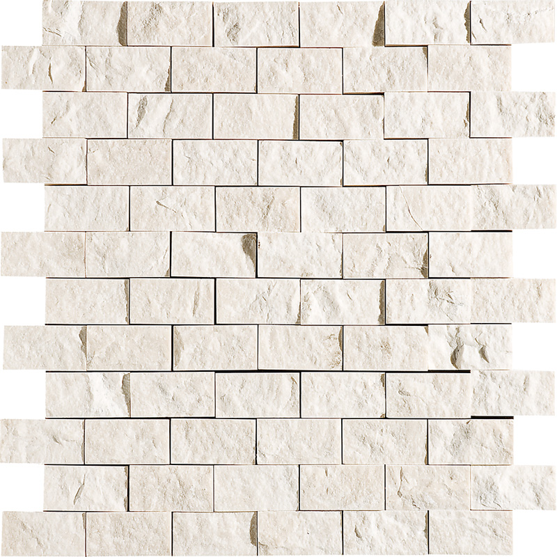 Desert Cream Rock Face 30x31 1x2 Mermer Mozaik Ms00605s