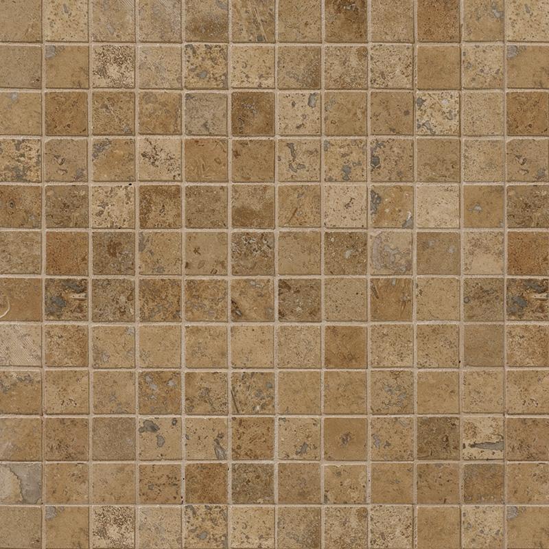 Walnut Dark Honed&filled 30,5x30,5 1x1 Traverten Mozaik Ms00717s