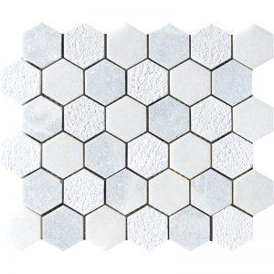 Allure, Glacier Textured 26,5X31 Hexagon Mozaik