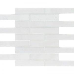 Aspen White Polished 30,5X30,5 3X15,2 Mozaik