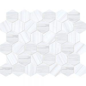 Bianco Dolomiti Classic Honed 26,5X31 Hexagon Mozaik