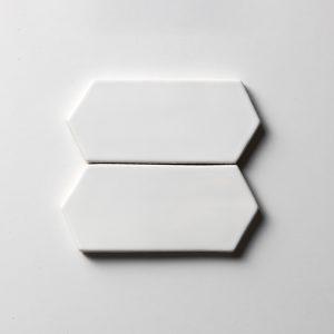 Royal White Glossy Picket Seramik Fayans 7,6X15,2